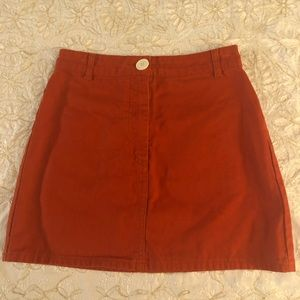 Red BDG Mini Skirt